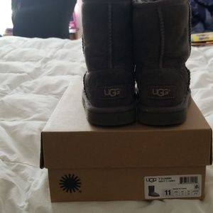 Kids Grey Ugg Boots